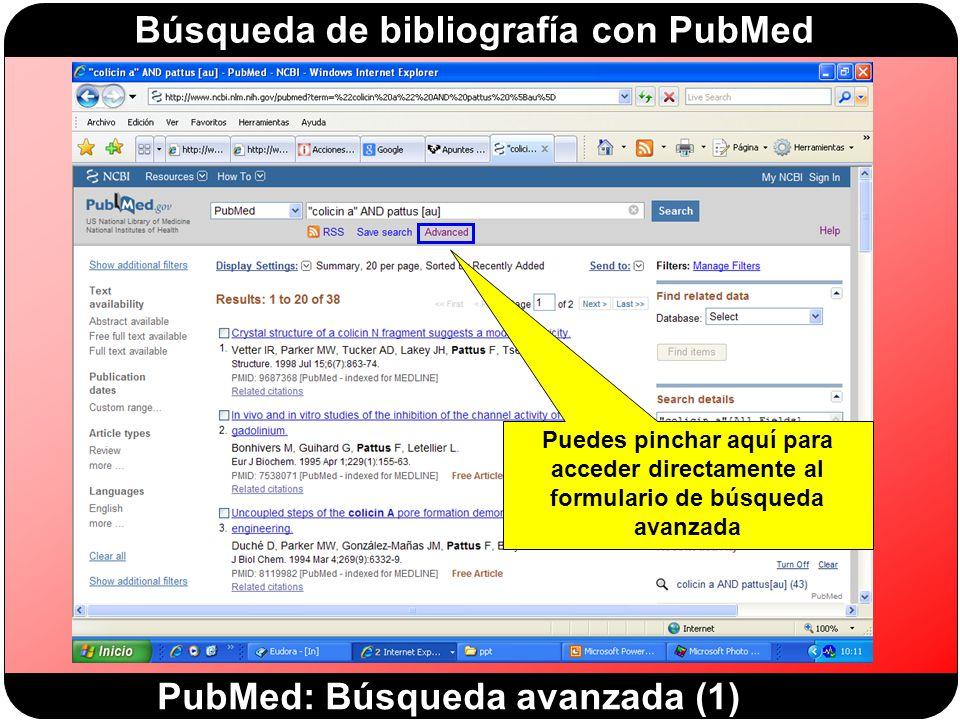 PubMed: Búsqueda avanzada (1)