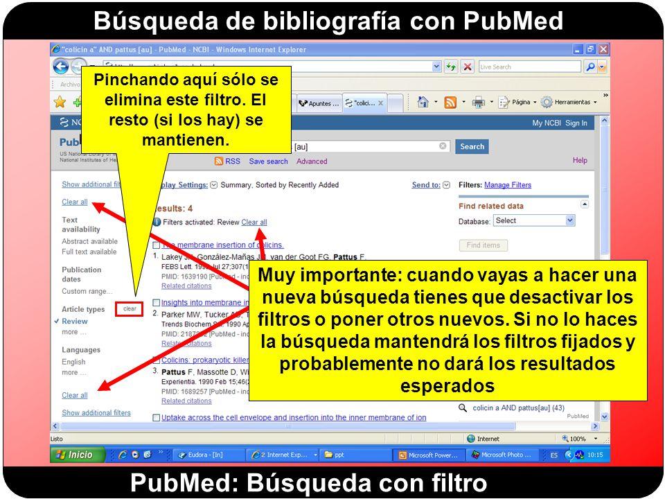 PubMed: Búsqueda con filtro