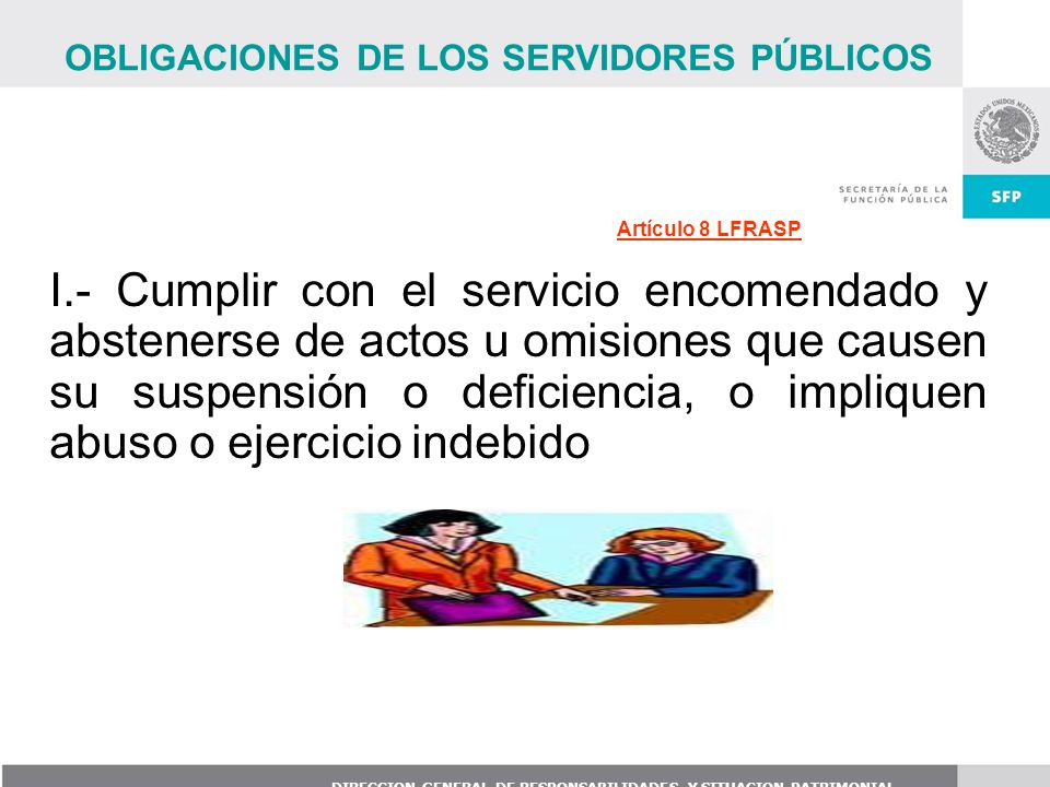OBLIGACIONES DE LOS SERVIDORES PÚBLICOS