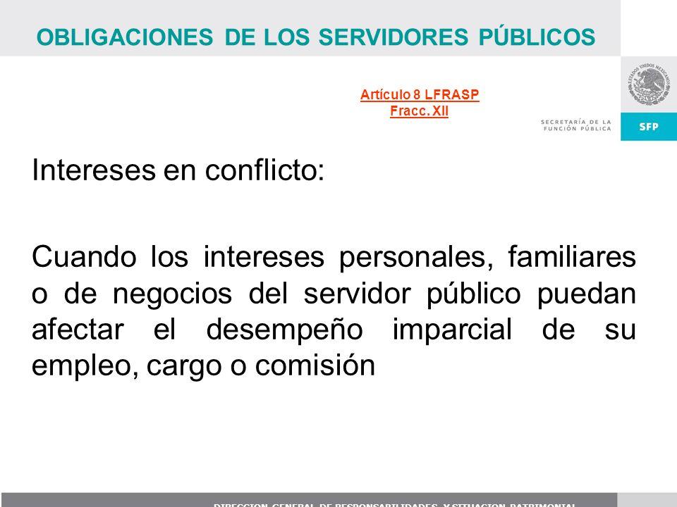 Intereses en conflicto: