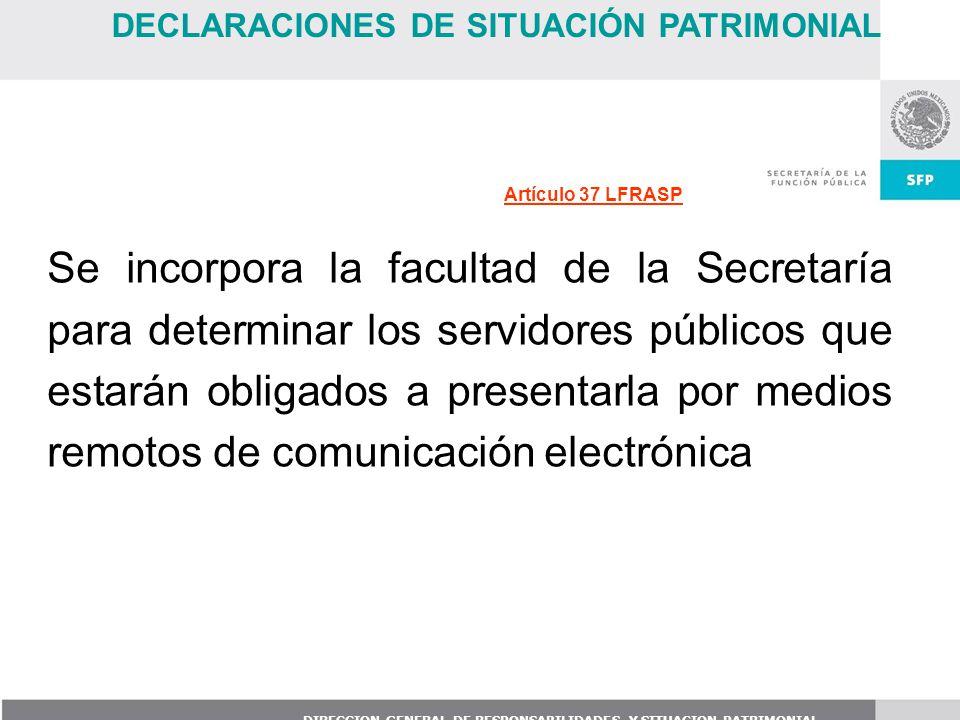 DECLARACIONES DE SITUACIÓN PATRIMONIAL