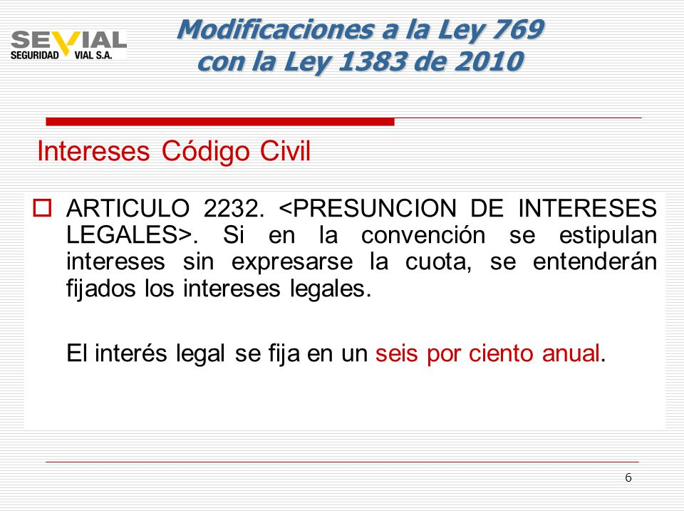 Intereses Código Civil