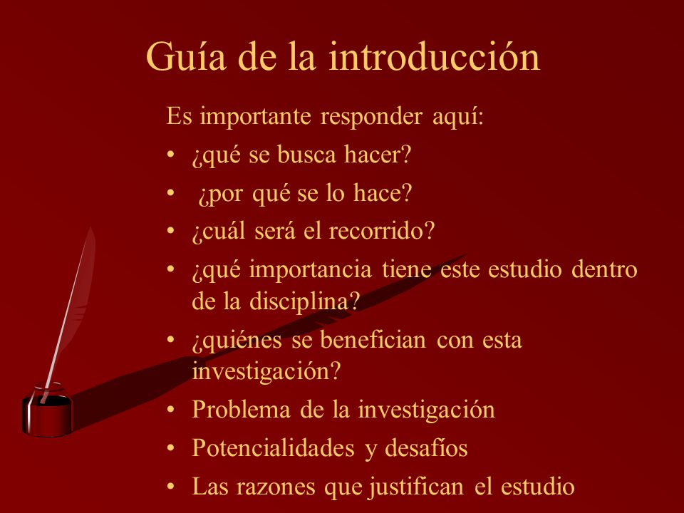 Guía de la introducción