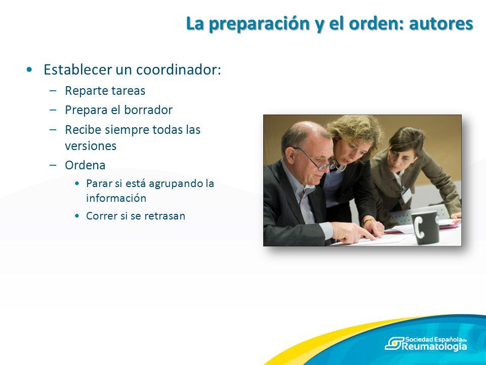 La preparación y el orden: autores