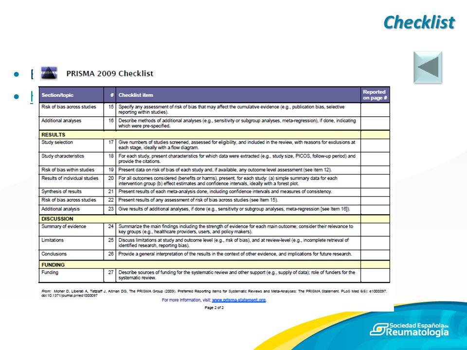 Checklist En la web del CONSORT group: