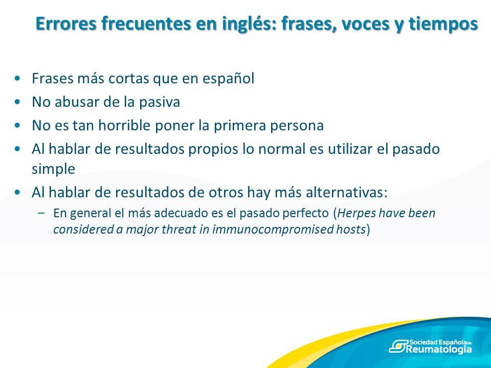 Errores frecuentes en inglés: frases, voces y tiempos