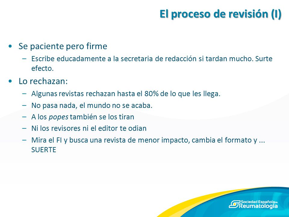 El proceso de revisión (I)