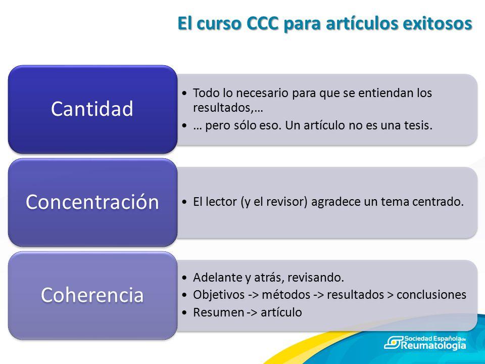 El curso CCC para artículos exitosos