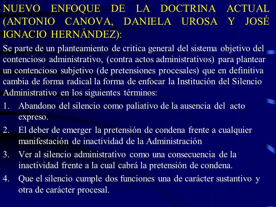 NUEVO ENFOQUE DE LA DOCTRINA ACTUAL (ANTONIO CANOVA, DANIELA UROSA Y JOSÉ IGNACIO HERNÁNDEZ):
