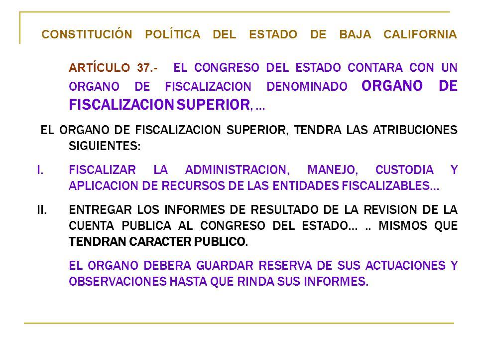CONSTITUCIÓN POLÍTICA DEL ESTADO DE BAJA CALIFORNIA ARTÍCULO 37
