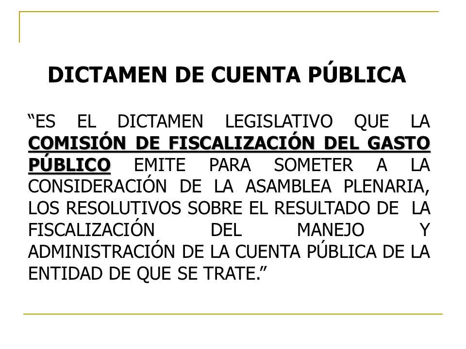 DICTAMEN DE CUENTA PÚBLICA