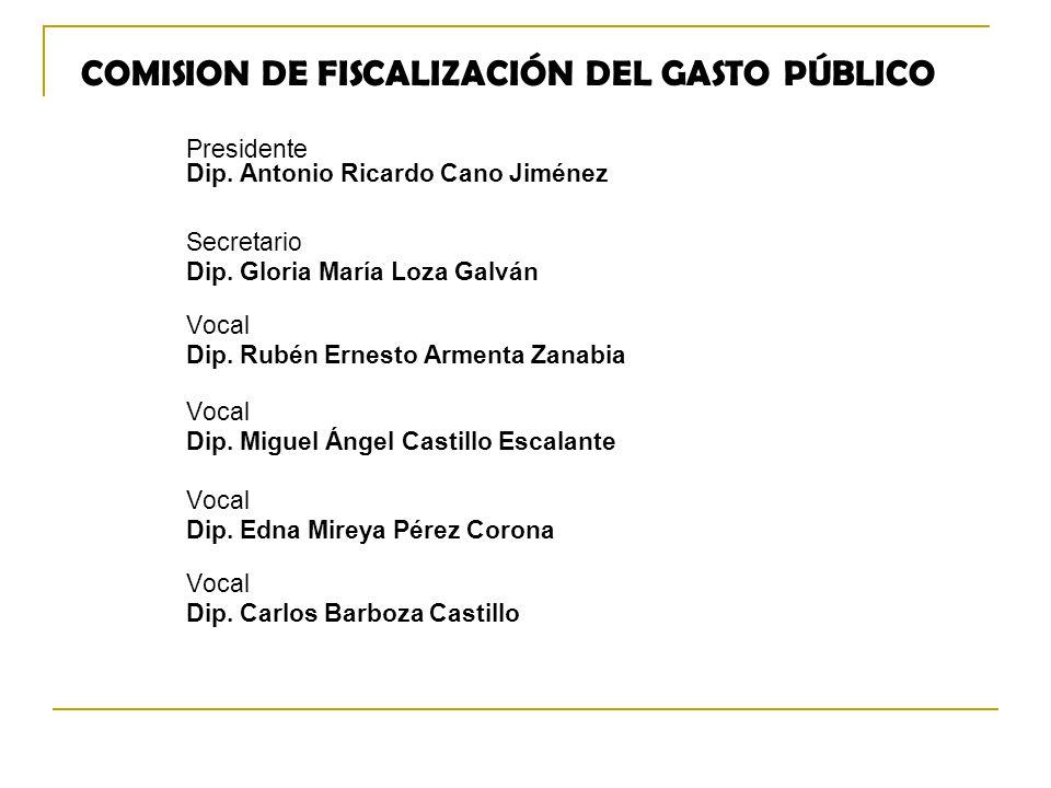 COMISION DE FISCALIZACIÓN DEL GASTO PÚBLICO