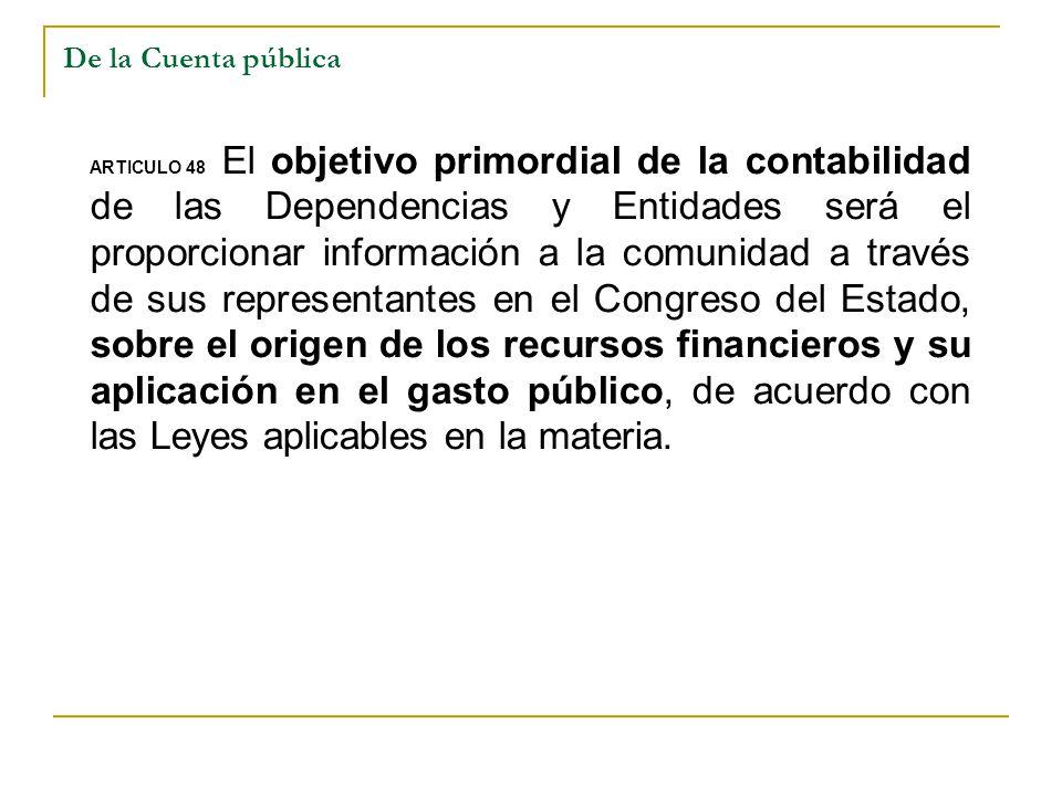 De la Cuenta pública