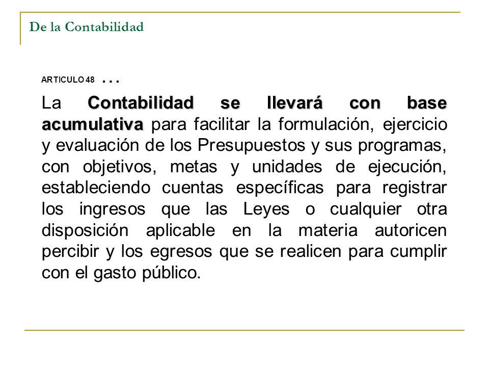 De la Contabilidad ARTICULO 48 …