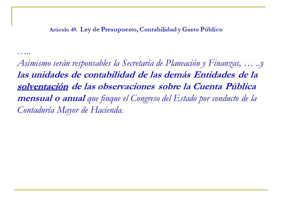 Articulo 49. Ley de Presupuesto, Contabilidad y Gasto Público …