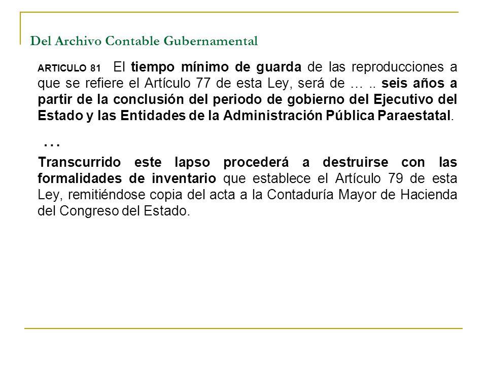Del Archivo Contable Gubernamental