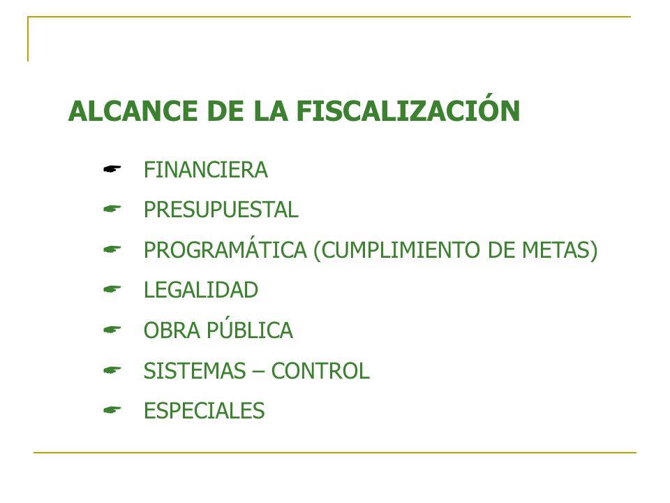 ALCANCE DE LA FISCALIZACIÓN
