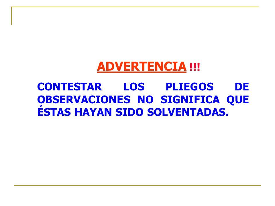 ADVERTENCIA !!.
