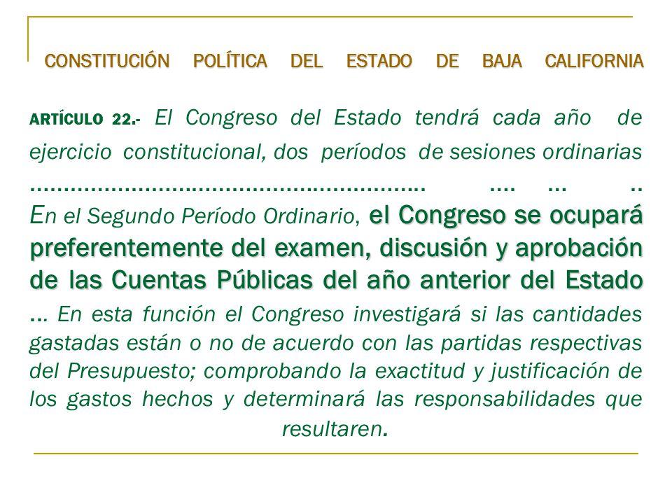 CONSTITUCIÓN POLÍTICA DEL ESTADO DE BAJA CALIFORNIA ARTÍCULO 22