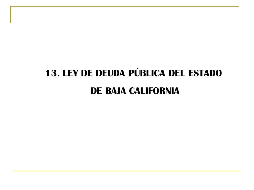 13. LEY DE DEUDA PÚBLICA DEL ESTADO