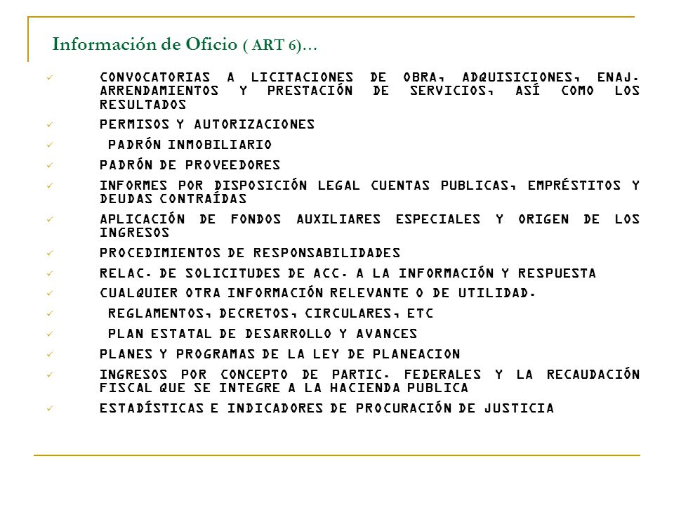 Información de Oficio ( ART 6)…