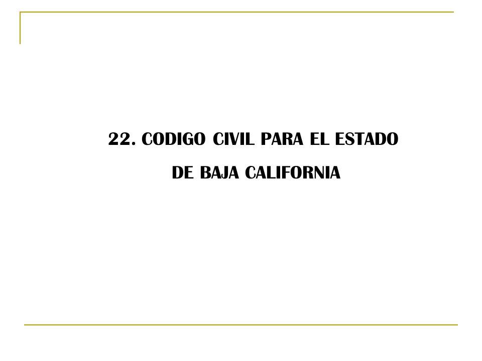 22. CODIGO CIVIL PARA EL ESTADO