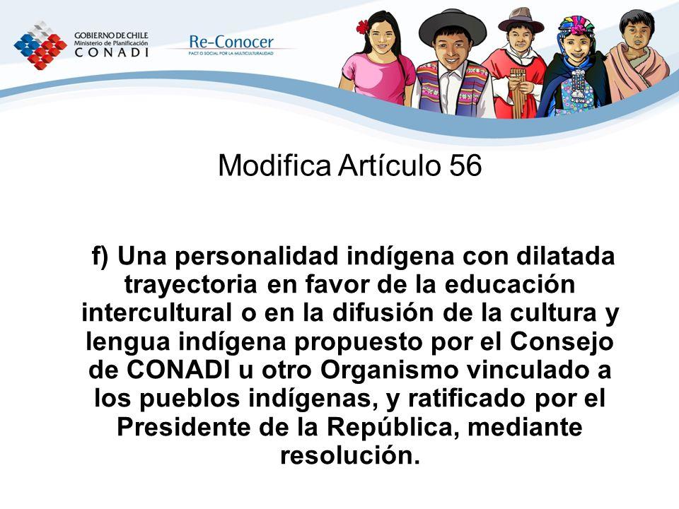 Modifica Artículo 56