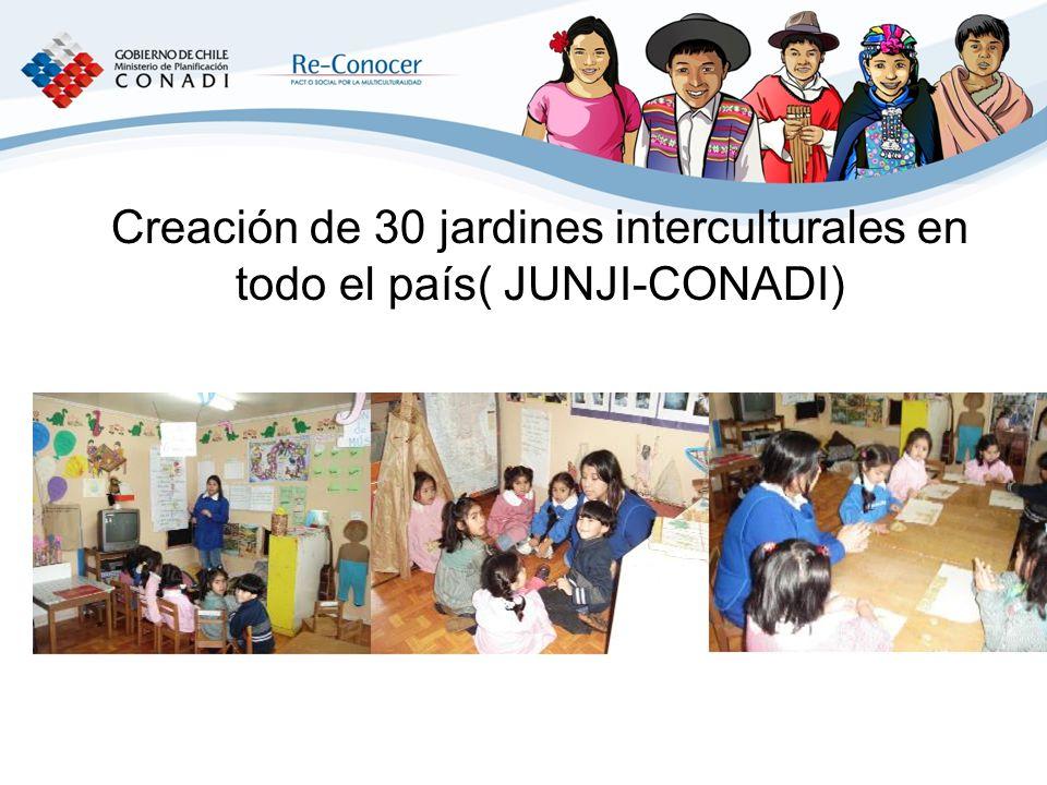 Creación de 30 jardines interculturales en todo el país( JUNJI-CONADI)