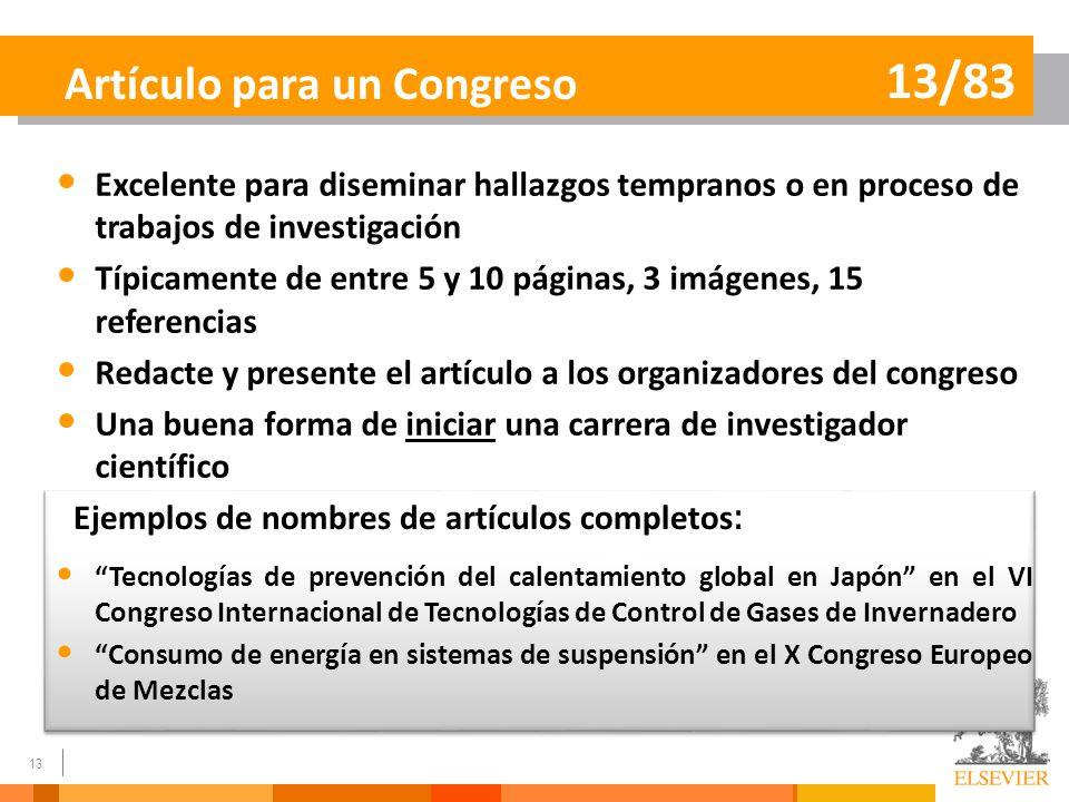 Artículo para un Congreso