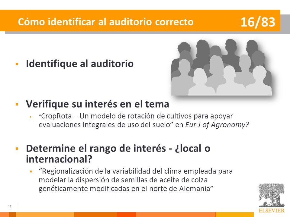 Cómo identificar al auditorio correcto