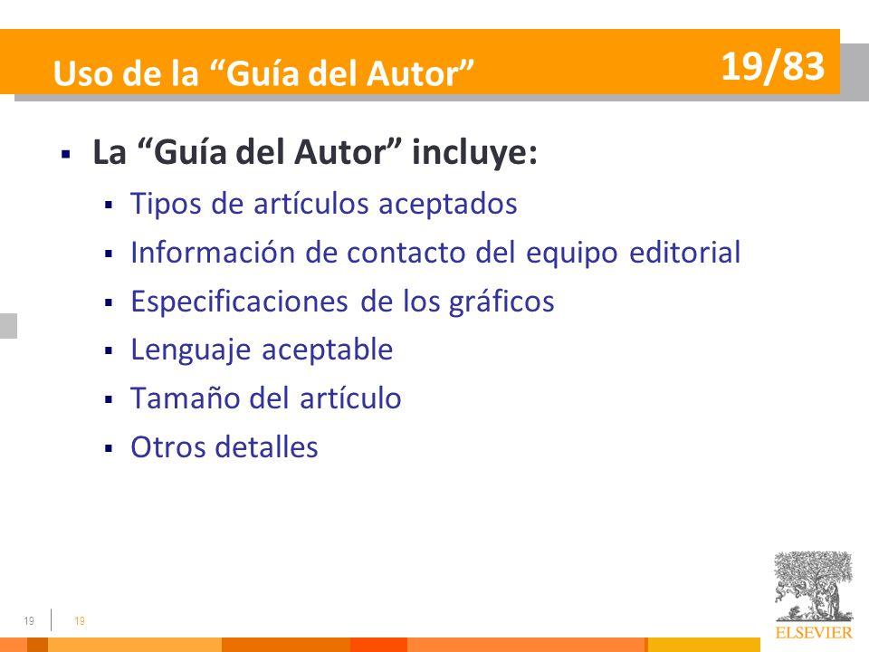 Uso de la Guía del Autor