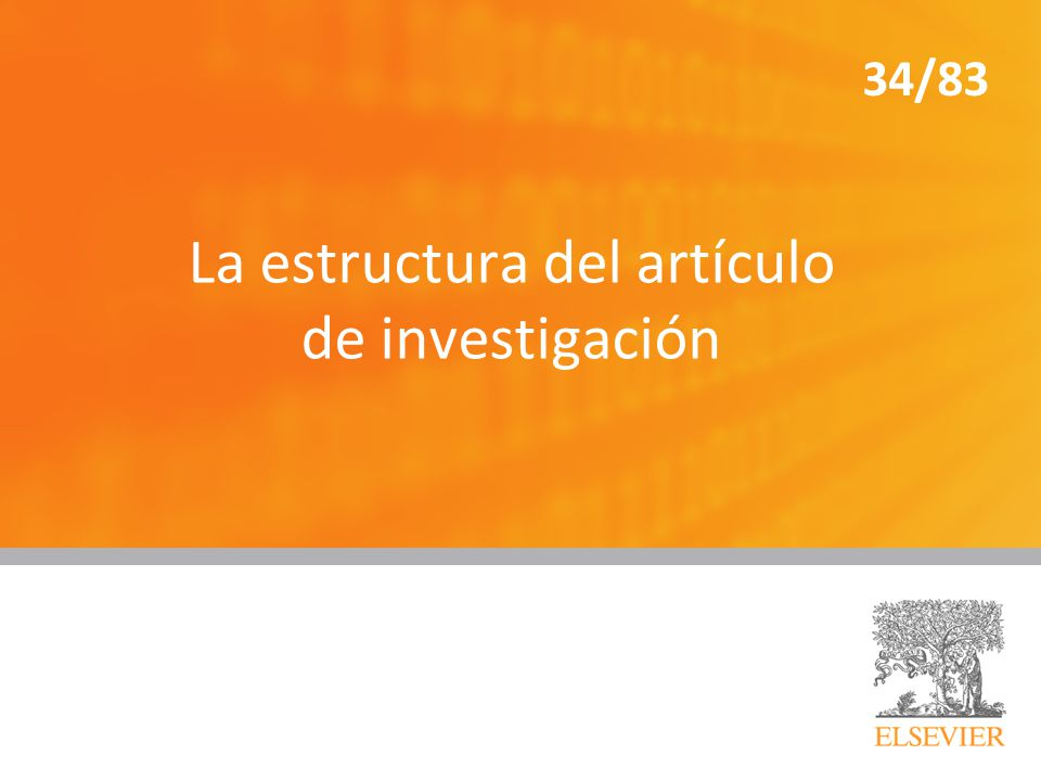 La estructura del artículo de investigación