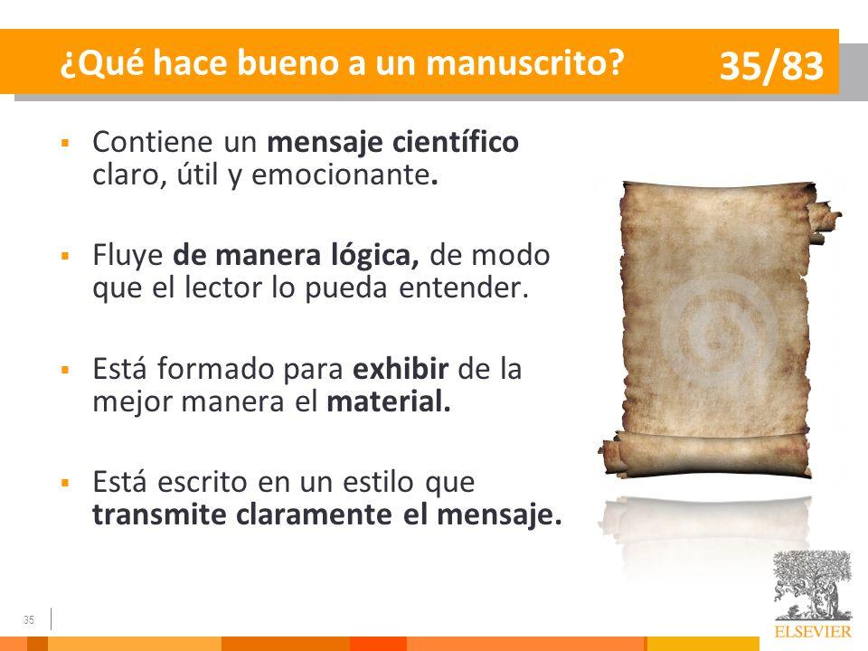 ¿Qué hace bueno a un manuscrito