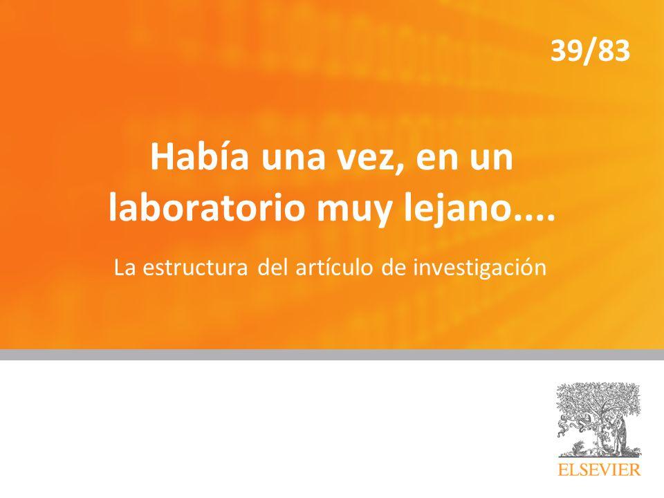 Había una vez, en un laboratorio muy lejano....