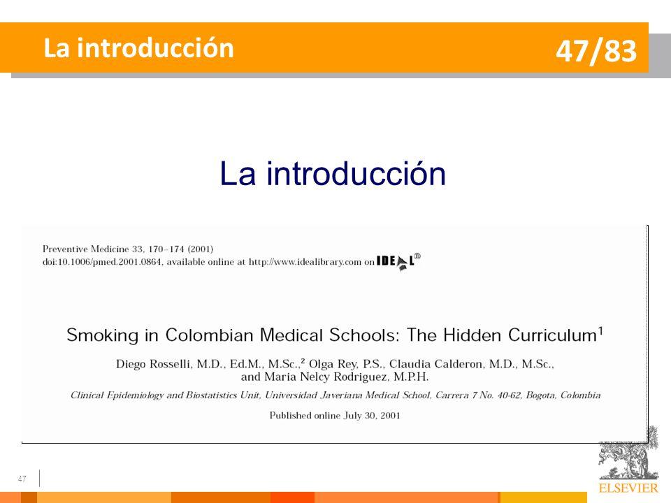 La introducción 47/83 La introducción