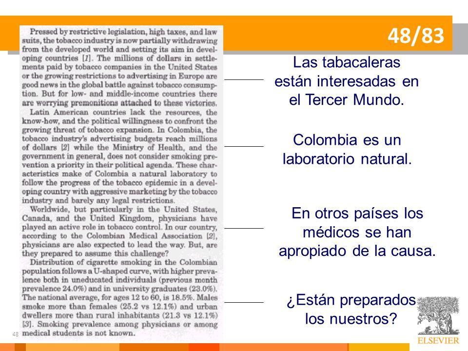 48/83 Las tabacaleras están interesadas en el Tercer Mundo.