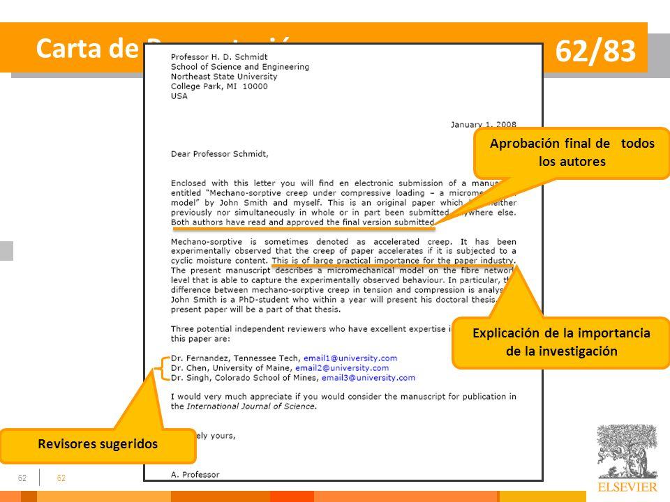 62/83 Carta de Presentación Aprobación final de todos los autores