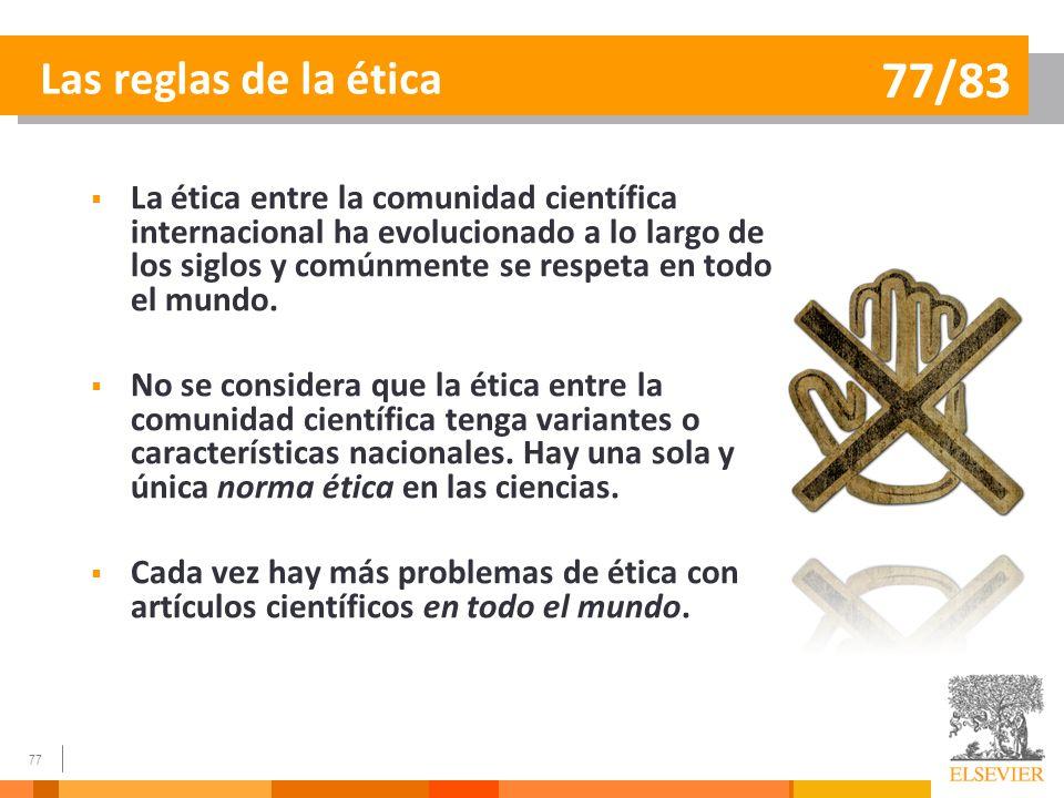 Las reglas de la ética 77/83.