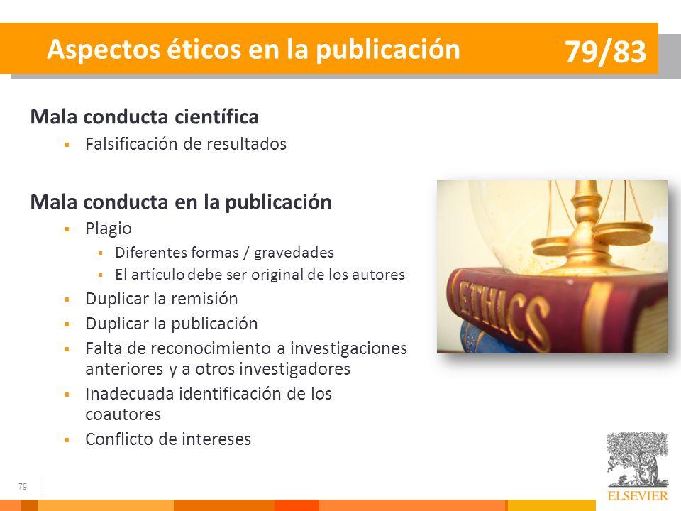 Aspectos éticos en la publicación