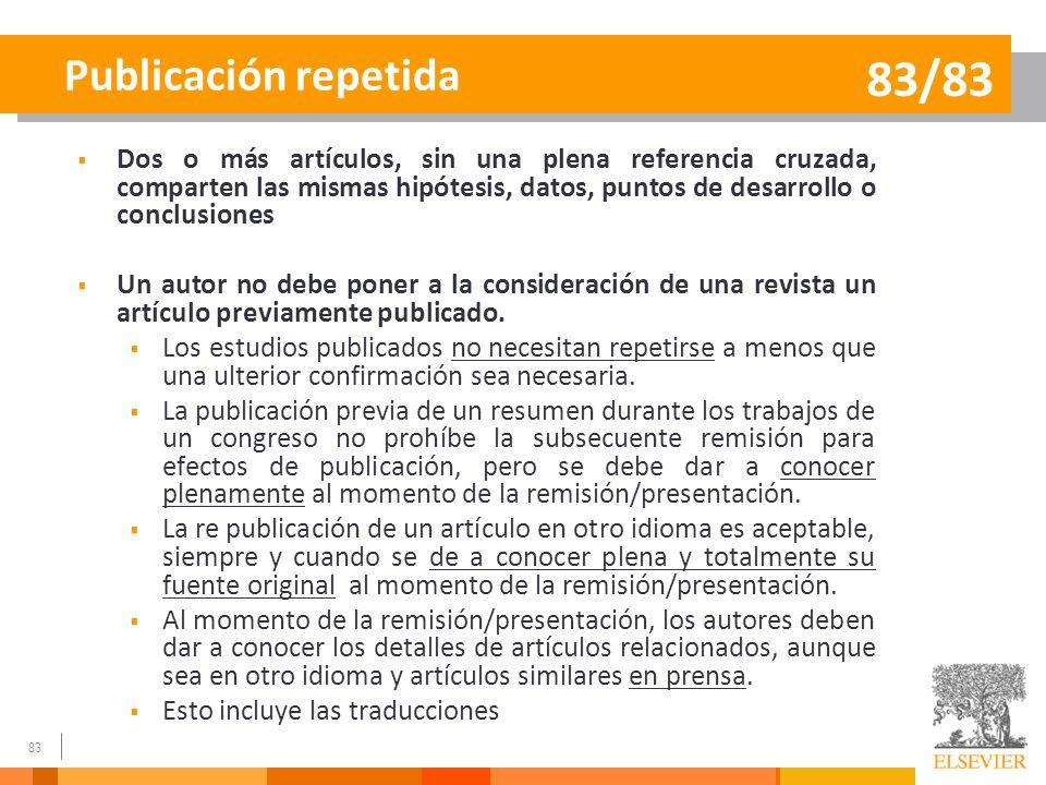 83/83 Publicación repetida