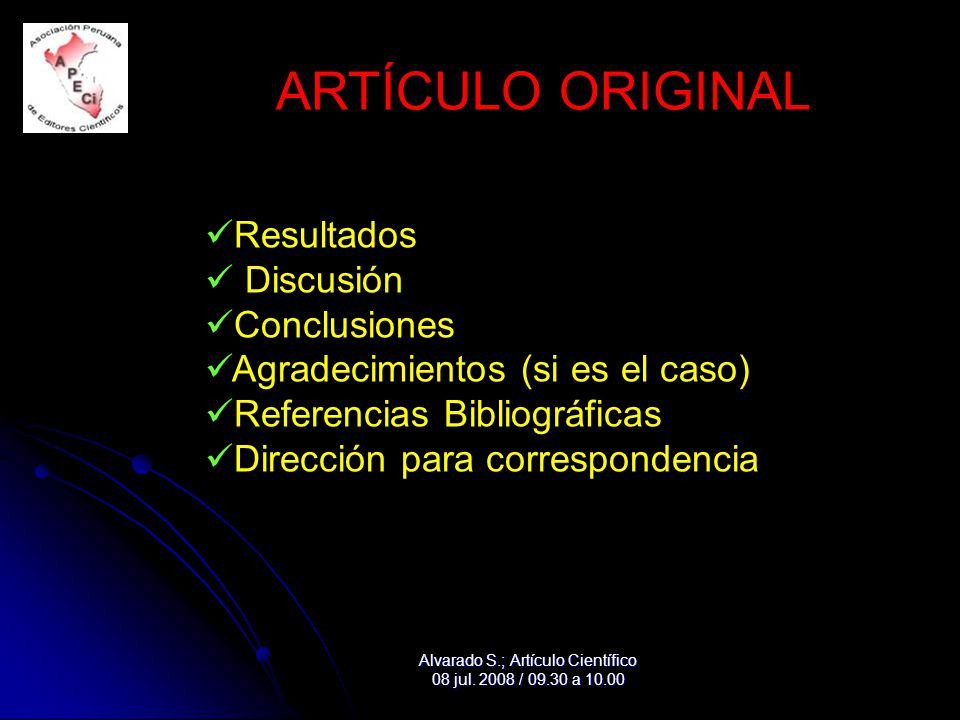 Alvarado S.; Artículo Científico