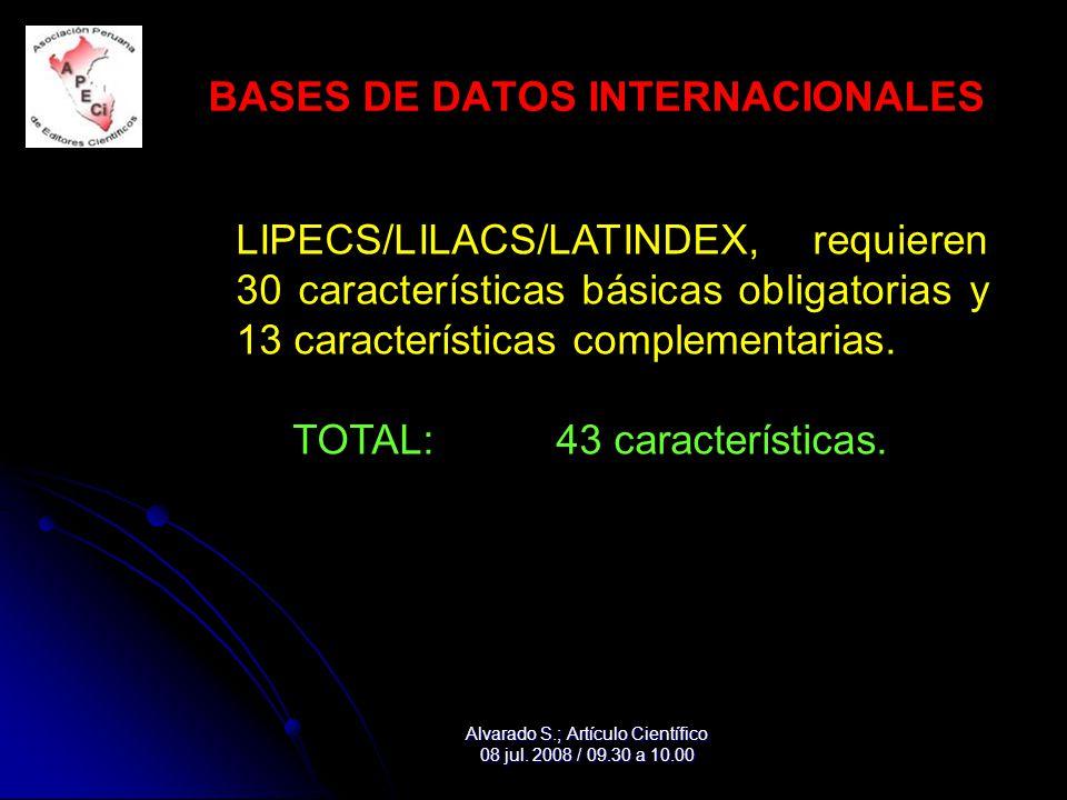 BASES DE DATOS INTERNACIONALES