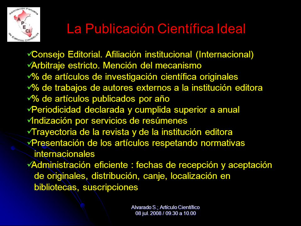 La Publicación Científica Ideal