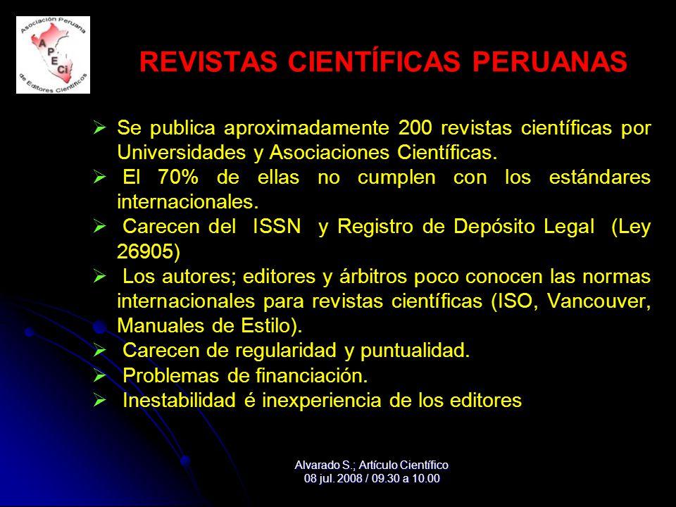 REVISTAS CIENTÍFICAS PERUANAS