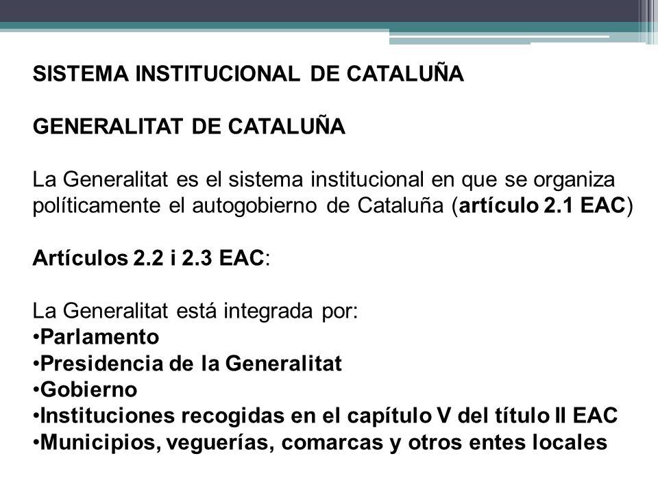 SISTEMA INSTITUCIONAL DE CATALUÑA