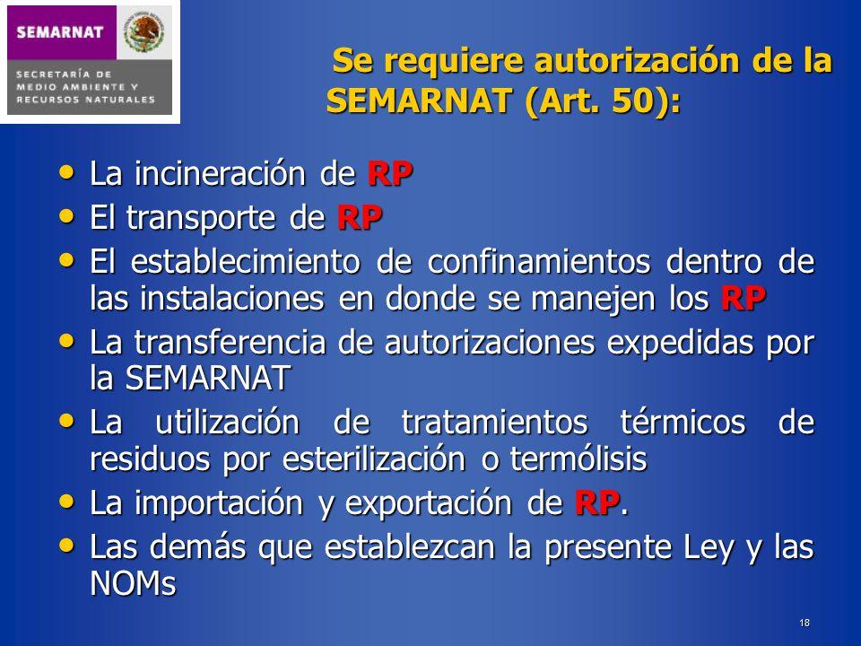 La transferencia de autorizaciones expedidas por la SEMARNAT