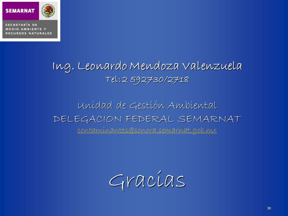 Ing. Leonardo Mendoza Valenzuela
