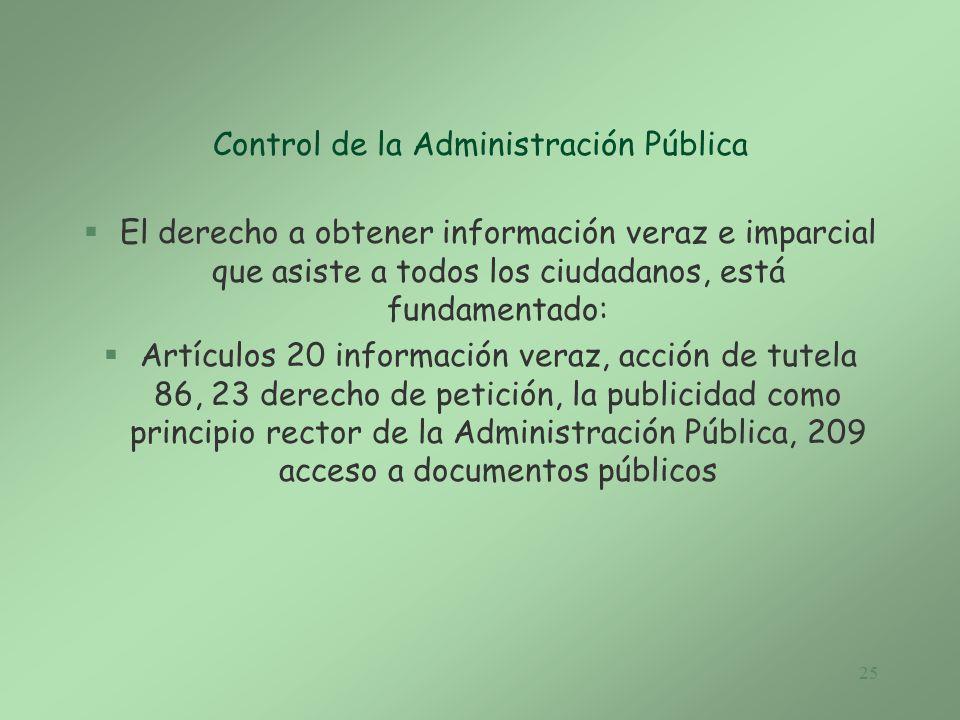 Control de la Administración Pública
