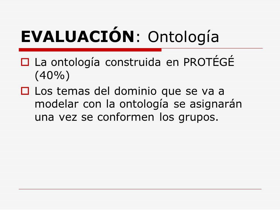 EVALUACIÓN: Ontología
