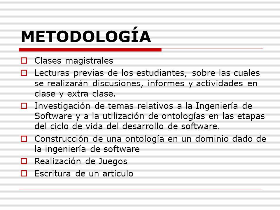 METODOLOGÍA Clases magistrales